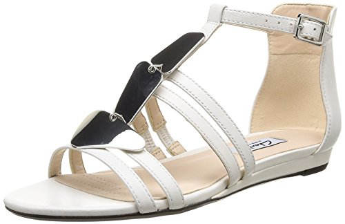 Clarks Studio Star, Sandali donna, Bianco (Weiß (White Leather)), 37.5