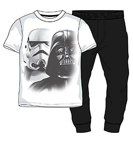 Star Wars Herren Pyjama Set lange PJs Baumwolle Weiß