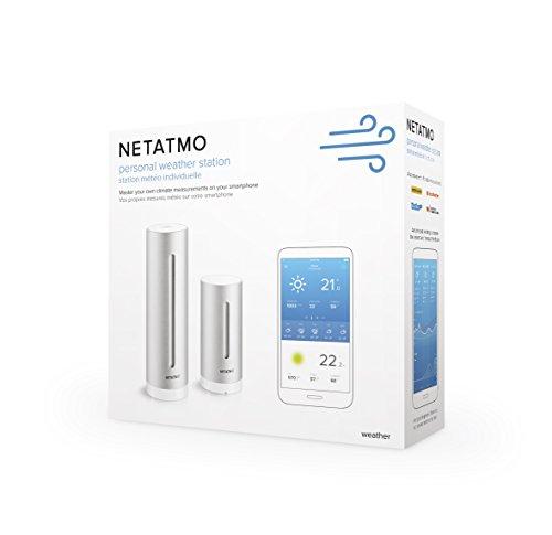 41x1EDiwYlL [Bon Plan Netatmo] Netatmo Station Météo Intérieur Extérieur Connectée Wifi pour Smartphone - Capteur Sans fil - Thermomètre, Hygromètre, Baromètre, Sonomètre, Qualité de l'air - Compatible avec Amazon Alexa