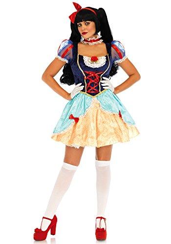 (Leg Avenue LO85647 - Lolita Snow White Damen kostüm, Größe S (Mehrfarbig))