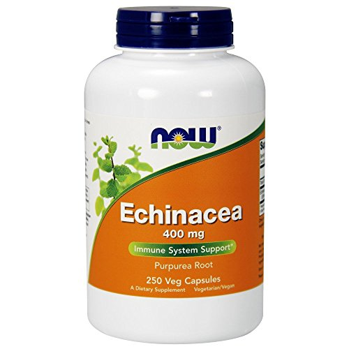 NOW Foods Echinacea 400mg, 250 Vcaps