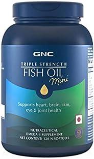 GNC Triple Strength Fish Oil Mini (120 Softgels)