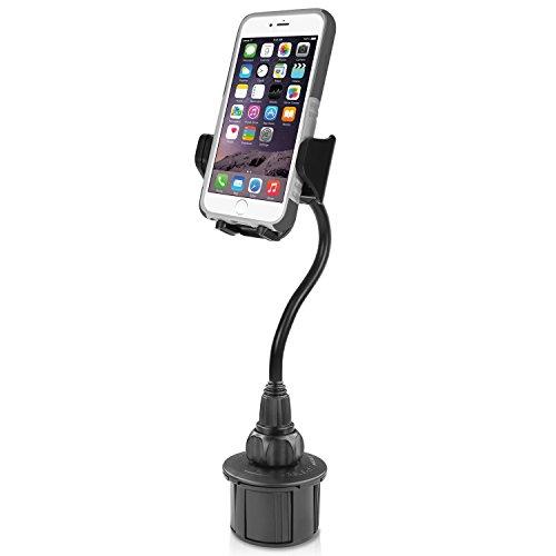 Macally KFZ Getränkehalter Autohalterung mit eine Flexible Extra Lang 20,3cm Hals für iPhone 7/7Plus/6/6+, Samsung, etc.