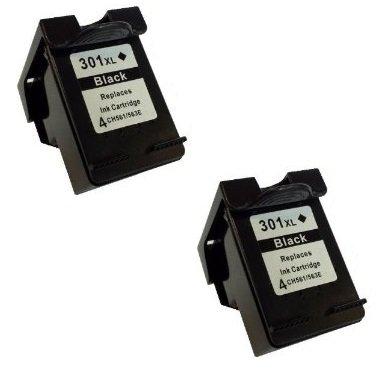 Prestige Cartridge HP 301XL Pack de 2 Cartouches d'encre compatible avec Imprimante HP DeskJet Séries, Noir