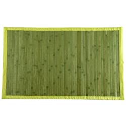 Stor Planet Natural Alfombra, Bambú, Verde, 120 x 180 cm