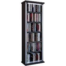 VCM Classic - Torre de CD/DVD para 150 piezas, color negro