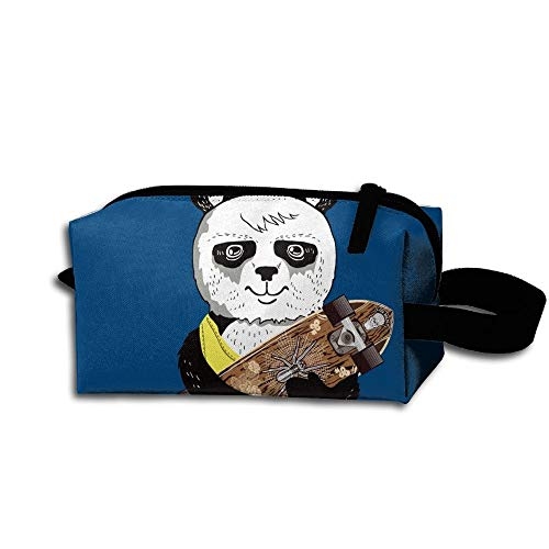 Skateboarding Panda Women's Tolietry Bag Cosmetic Travel Case Accessories Organizer