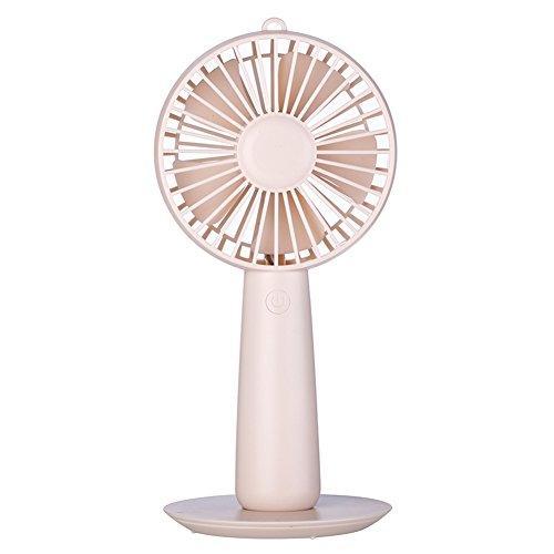 e-mini beweglicher batteriebetriebener persönlicher Schreibtisch-Ventilator wieder aufladbare Make-upspiegel Lüfter Fan 3 beschleunigt für Hauptreise-Actvies im Freien (Batteriebetriebener Hand-fans)