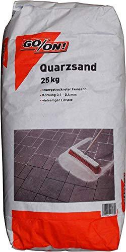 25 kg Quarzsand Fugensand feuergetrocknet, Körnung Ø 0,1mm bis 04mm