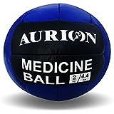 Aurion Medicine2 Leather Medicine Ball, 2Kg (Blue/Black/White)