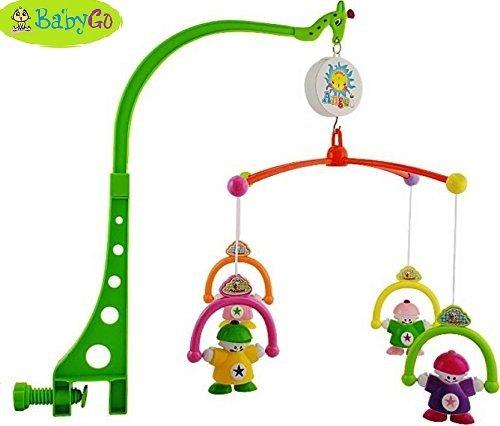 BabyGo Sweet Cuddle Cot Cradle Musical Rattle 6 Pc Set For Infants Toddler New Born