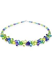 Exklusivos cristales de Swarovski® en Ana Morales señoras colgante plata de ley con cadena plata de ley 47 cm