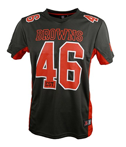 Majestic NFL Mesh Polyester Jersey Shirt - Cleveland Browns L Brown (Mesh-jersey Athletic)