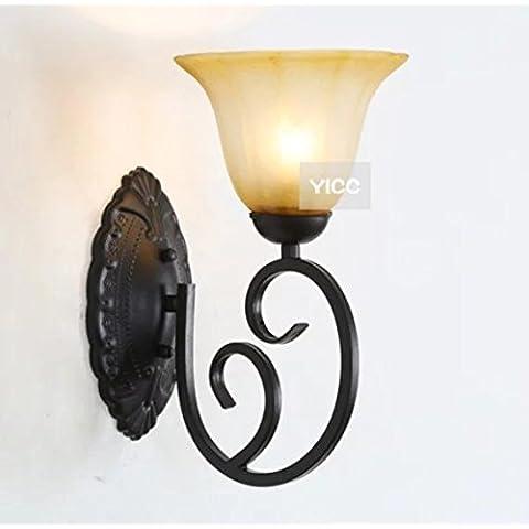 FANDBO Americano rustico lampada da parete in ferro battuto soggiorno