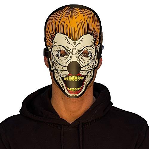 D Masken, Verschiedene Motive - Horror Clown, Harlekin, Halloween, Gangster UVM. (6240101 - Scary) ()