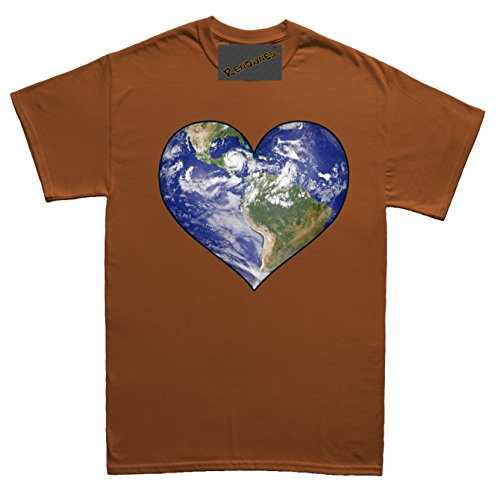 Renowned Love Planet Earth Unisex - Kinder T Shirt Braun
