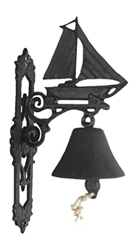 Cast Iron Garden Bells - Sail Boat - Two Finishes (Black)