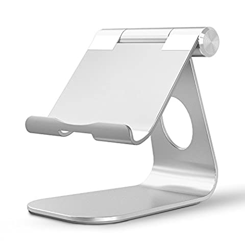 Support Universel Tablette iPad Air De Bureau, OMOTON Phone Holder Multi-Angles en Aluminium Pour Les Tablettes, Téléphones, Nintendo Switch, Kindle