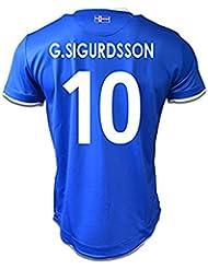 Fußballtrikot Island, Nummer 10,Gylfi Bor Sigurdsson, 2016/2017, Blau