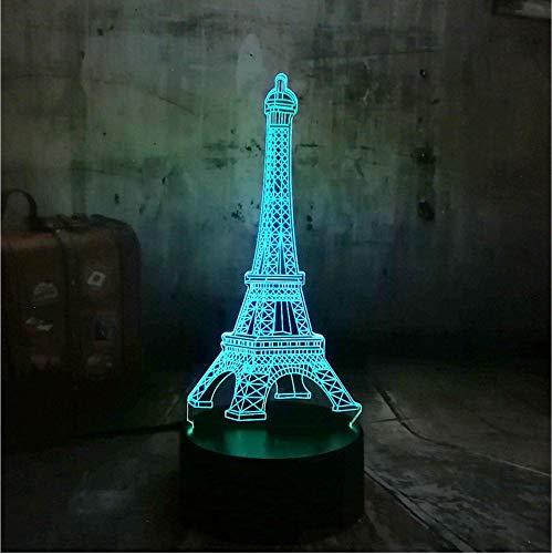 LIEBE Romantische Frankreich Eiffelturm 3D Nachtlicht USB LED Schreibtischlampe 7 Farben Ändern Liebhaber Süße Freundin Geschenk