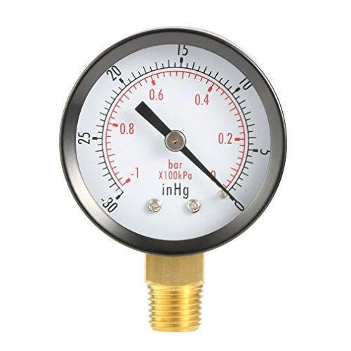 leoboone Trockenprogramm Vakuum-Manometer Blk Stahl 1/4