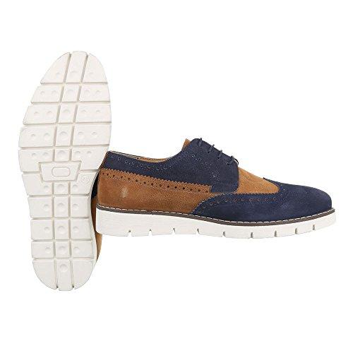 Ital-Design , Chaussures à lacets homme Bleu/marron