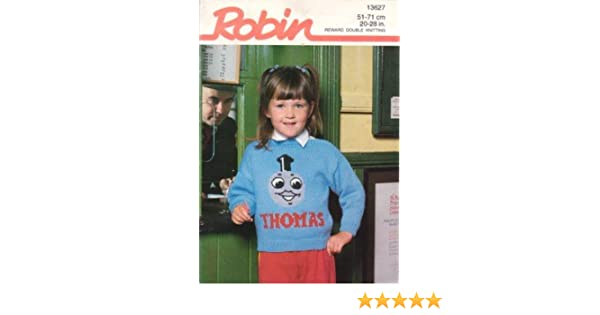 Robin Knitting Pattern Child's Cardigan and Sweater Thomas