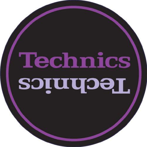 Technics DMC - Feltro per giradischi, 1 paio, colore: nero/viola