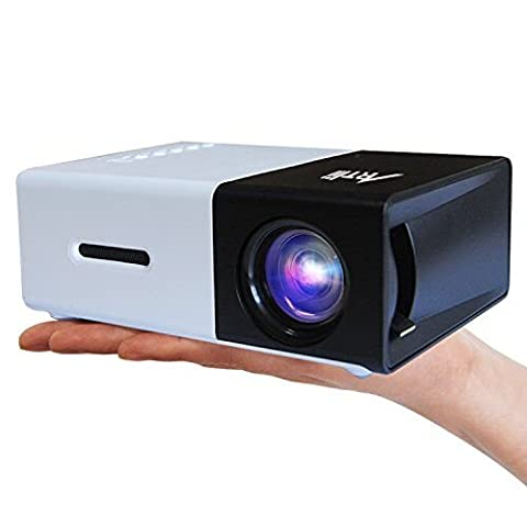 Mini Projektor, Artlii iPhone Beamer Protable Multimedia Heimkino LCD Videospiele für Handy Smartphone Xbox PS4 PC Laptop TV Filme