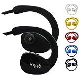 Emartbuy Gblue Noir S80 Bluetooth Stéréo Sans Fil Casque de Sport Écouteurs Dans Supports d'oreille Mains Libres Calling avec Microphone Pour Samsung Galaxy A3 ( 2017 ) SM-320