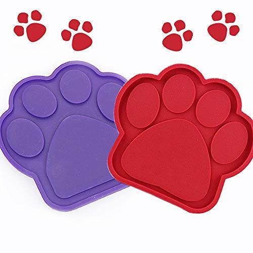 WENTS Fressnapf für Hunde Lick Pad Hund Erdnussbutter Pad Hund Langsam Behandeln Badespender für Hunde Hundebad Ablenkung Spielzeug 2Pcs