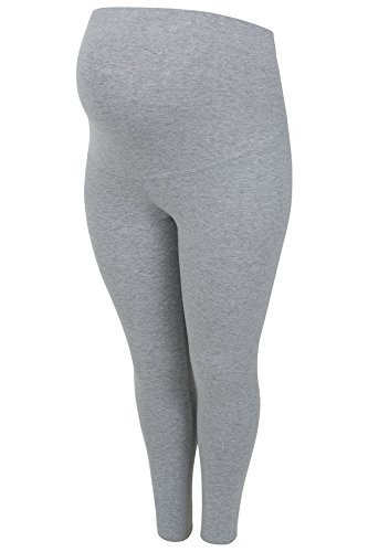 plus-size-womens-bump-it-up-di-sostegno-maternita-leggings-cotone-elastam-grigio-grigio