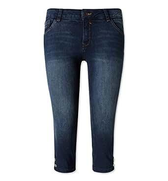 C&A Damen Capri Hose jeans - blau Größe 48 kurz