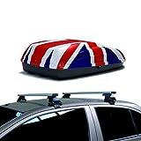 Barres DE Toit Porte Toit Box BAUTE BAUTE BANDIÈRE UK Auto Compatible avec Jeep...