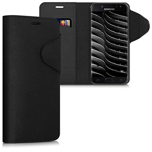 kalibri-Hlle-fr-Samsung-Galaxy-J5-2017-DUOS-Echtleder-Wallet-Case-Schutzhlle-mit-Fach-und-Stnder-in-Schwarz