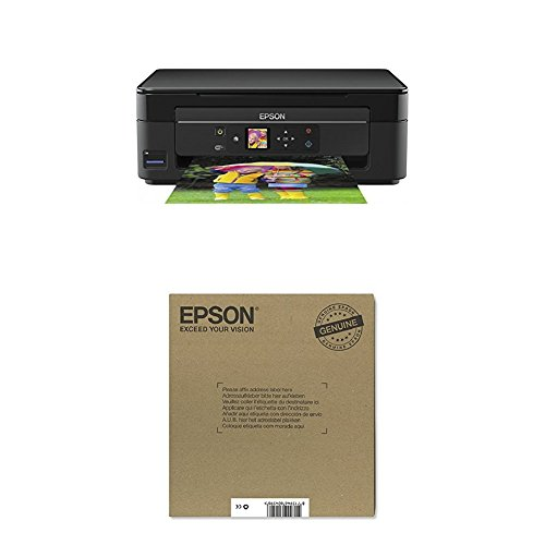 Epson Expression Home XP-345 3 in 1 Tintenstrahl All-in-One schwarz+ Original T2986 Erdbeere, Claria Home Tinte (CYMK)