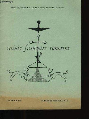 Sainte francoise romaine.