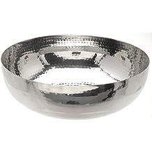 Dekoschale 21 Cm Lebensmittelecht Silber Edelstahl Schale Teller Dekoteller Deko