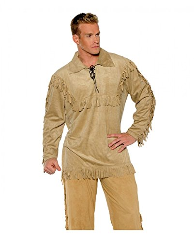 Horror-Shop Frontier Trapper Western Shirt für Fasching One ()