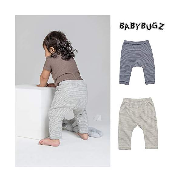 Babybugz polainas de jersey de bebe a rayas Pantalones para ninos pequenos 2