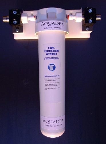 Aquadea® Untertischfilter Wasserfilter UKATO Quick Change System - Carbon-Block Aktivkohle mit Mikro-Membran-Keimsperre, Filterpatronen-Wechsel innerhalb 1 Minute - selbst machen - unschlagbar - hygienisch - einfach