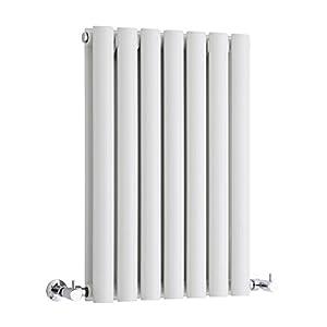 Hudson Reed Radiador Revive Horizontal con Calefacción de Diseño Moderno – Radiador con Acabado en Blanco – Diseño de Columna – 635 x 415mm – 652W – Calefacción