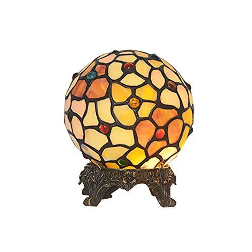 WYMI European Spherical Farbiges Glas Nachtlicht Kreative Dekoration Geschenk Geschnitzte Base Eye Innenbeleuchtung Wohnzimmer Schlafzimmer Studie Villa Leuchte 220/2240 V A +++