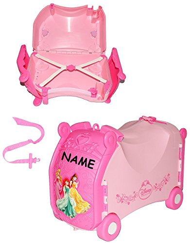 Disney Princess Kindergepäck Reisekoffer / Sitz-Trolley - Disney Princess 4 Räder 31 x 20 x 45 cm