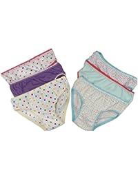 6 calzoncillos para niñas 100% Algodón Estampado Braguitas 2-3 años, ...