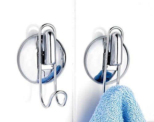 Badezimmer Haken Set von 2Smart-Loc Bad Küche Handtuch Serviette Haken zum Aufhängen kein Bohren.