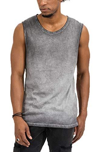 trueprodigy Casual Herren Marken Tank Top einfarbig Basic, Oberteil cool und stylisch mit Rundhals Ausschnitt (Ärmellos & Slim Fit), Muscle Shirt für Männer in Farbe: Grau 1073181-0403-S