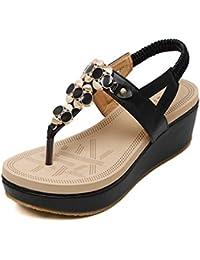 Sandalias De Vestir Con Plataforma Decoradas Con Pedreria Tipo Para Mujer
