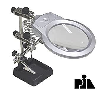 HELPING HAND MAGNIFIER LED LIGHT WITH SOLDERING STAND -PIA INTERNATIONAL