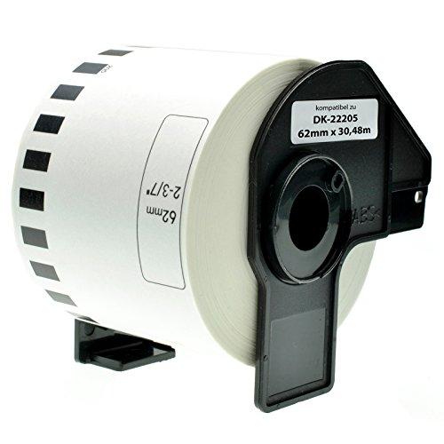 Rotolo Etichette Adesive a Striscia Continua Brother DK-22205 62 mm x 30,48 mt